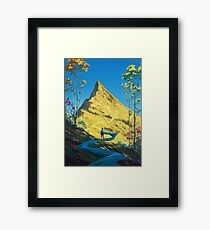Path to the top Framed Print