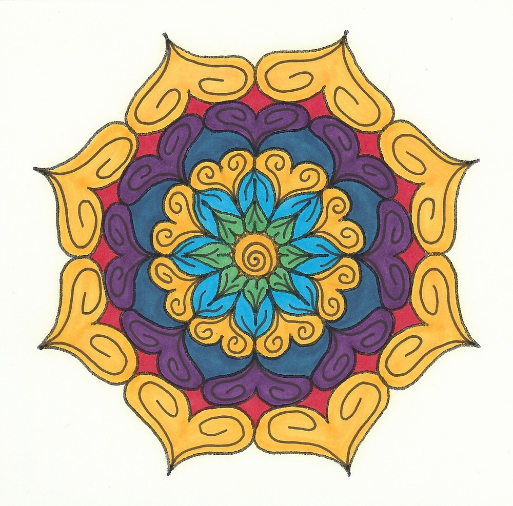 Mandala Drawing #16 Original Design by TAM by Michelle Clifton