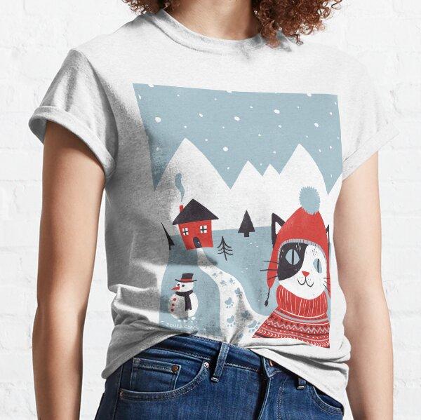 Día nevado Camiseta clásica