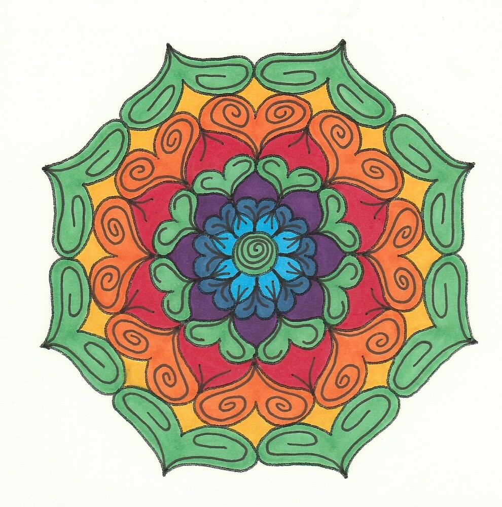 Mandala Drawing #17 Original Design by TAM by Michelle Clifton