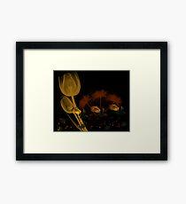 FLOWERED WALLPAPER Framed Print
