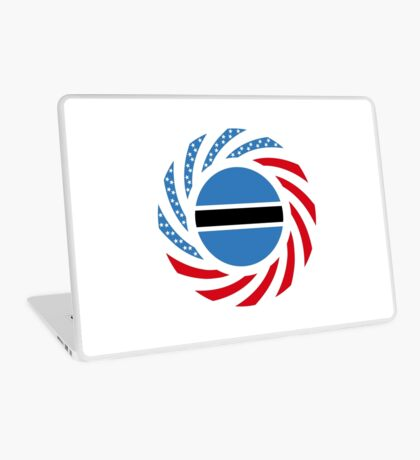 Botswana American Multinational Patriot Flag Series Laptop Skin