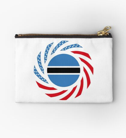Botswana American Multinational Patriot Flag Series Zipper Pouch