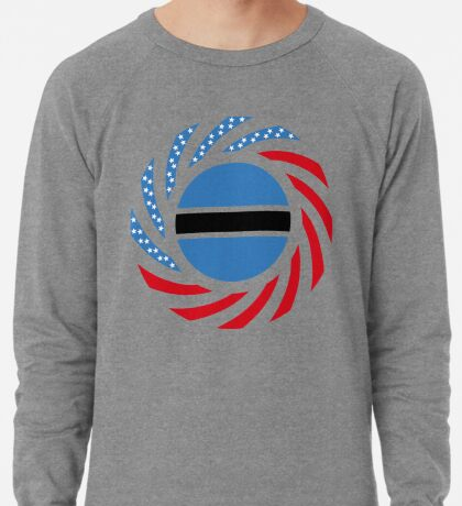 Botswana American Multinational Patriot Flag Series Lightweight Sweatshirt