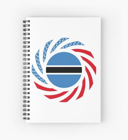Botswana American Multinational Patriot Flag Series Spiral Notebook