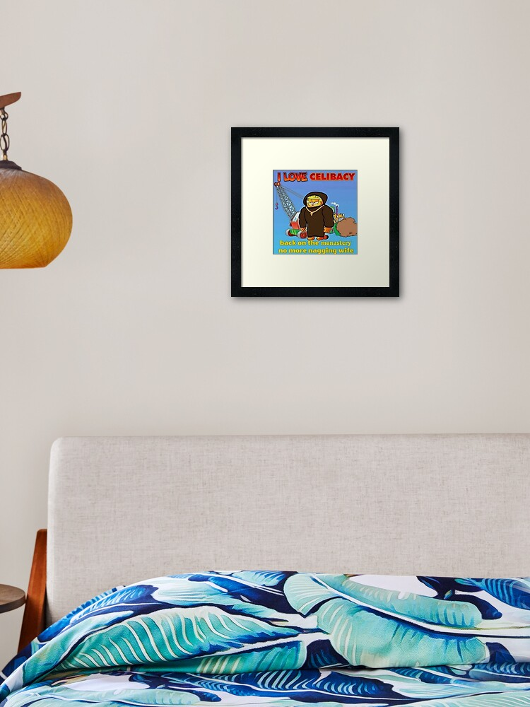 Garfield Meme Framed Art Print By Boomerusa Redbubble