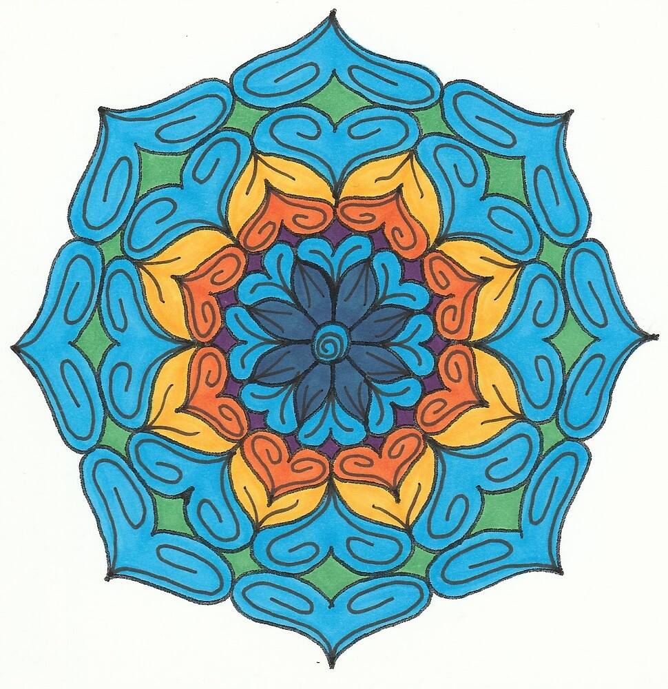 Mandala Drawing #18 Original Design by TAM by Michelle Clifton