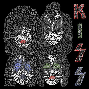 """KISS"" American Rock Band by Karotene"