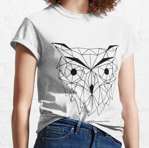 Buho Geometrico I line Art I Low poly.  Camiseta clásica