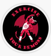 Exercise Your Demons Transparent Sticker