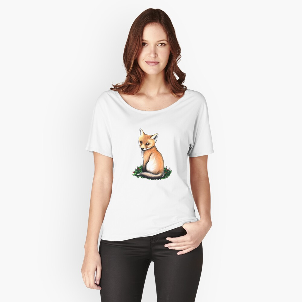 Little Fox Women's Relaxed Fit T-Shirt Front