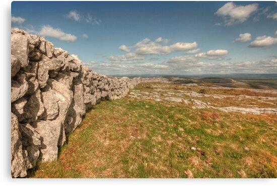 Burren Stone Wall by John Quinn
