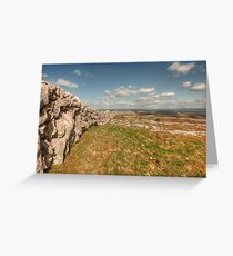 Burren Stone Wall Greeting Card