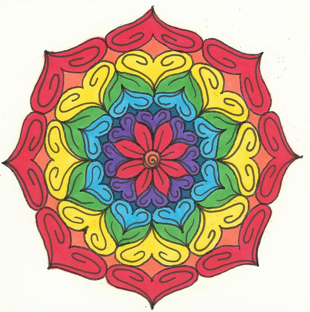 Mandala Drawing #21 Original Design by TAM by Michelle Clifton