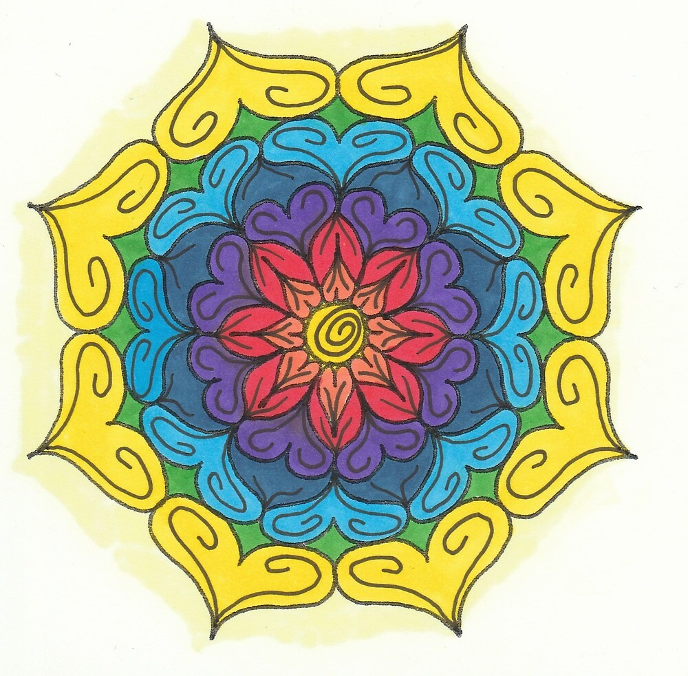 Mandala Drawing #23 Original Design by TAM by Michelle Clifton