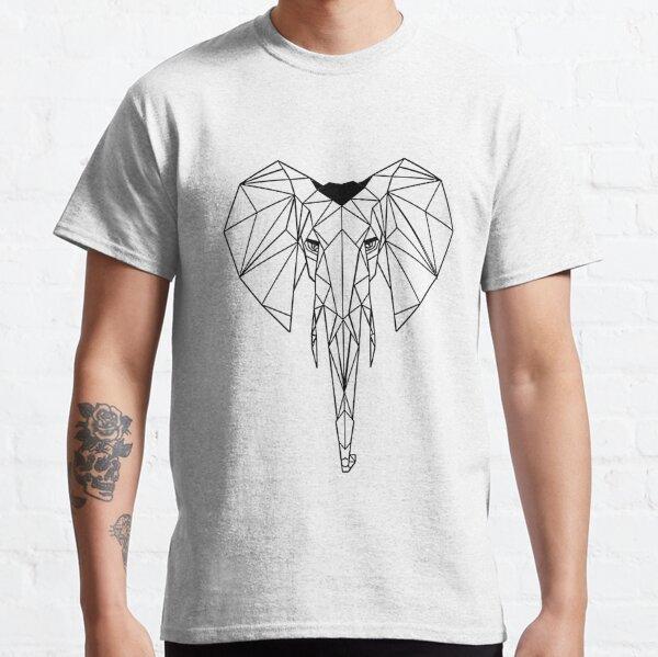 Elefante Geometrico I low poly I line art I dibujo  Camiseta clásica