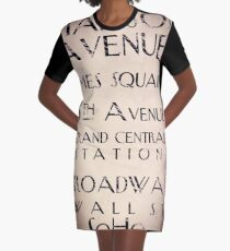 New York City Sign Graphic T-Shirt Dress