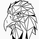 «Aguila geometrica I low poly I line art » de Unpredictable Lab