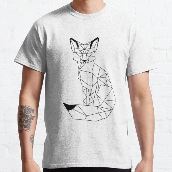 Zorro Geometrico I low poly I line art  Camiseta clásica