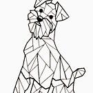 «Perro Geometrico I Scottie I Low poly I line art » de Unpredictable Lab