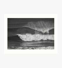 slotted in mono Art Print