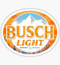 Busch Light Orange Logo Fall Limitierte Auflage Sticker