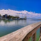 Shem Creek Pano looking towards Charleston by TJ Baccari Photography