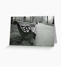 Benches Greeting Card