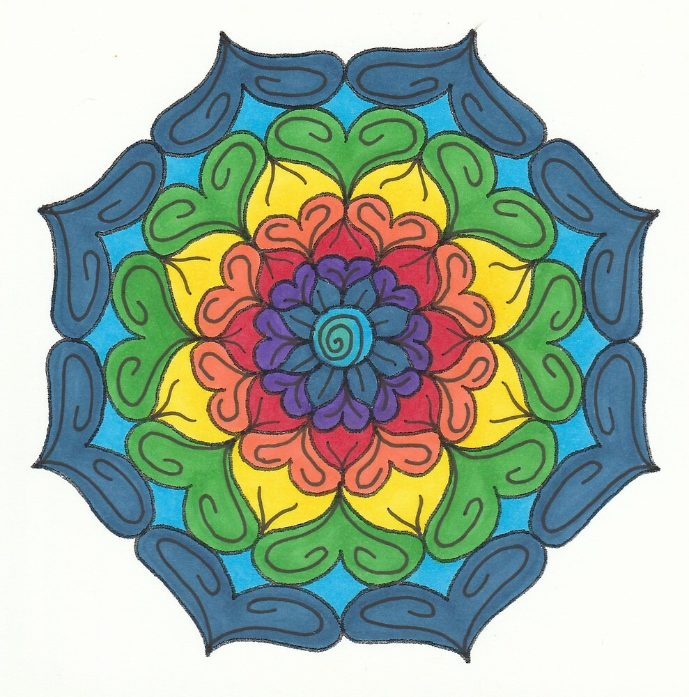 Mandala Drawing #26 Original Design by TAM by Michelle Clifton