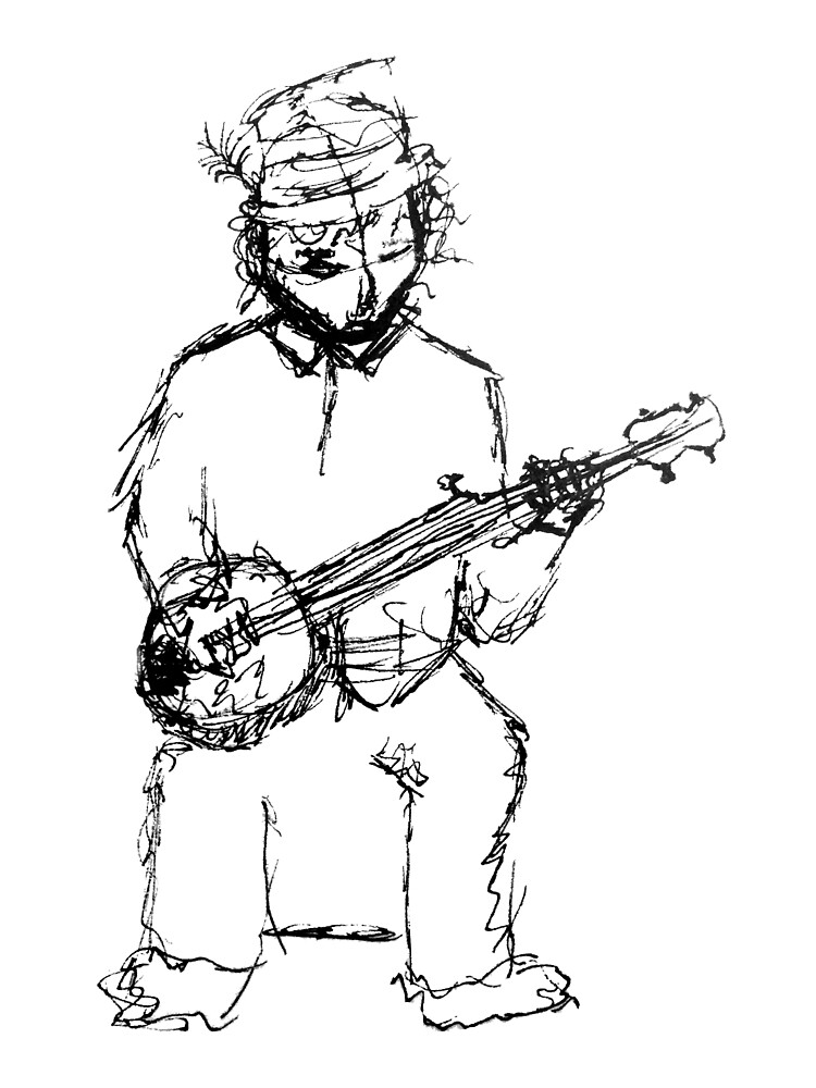 Banjo Player by cgambs
