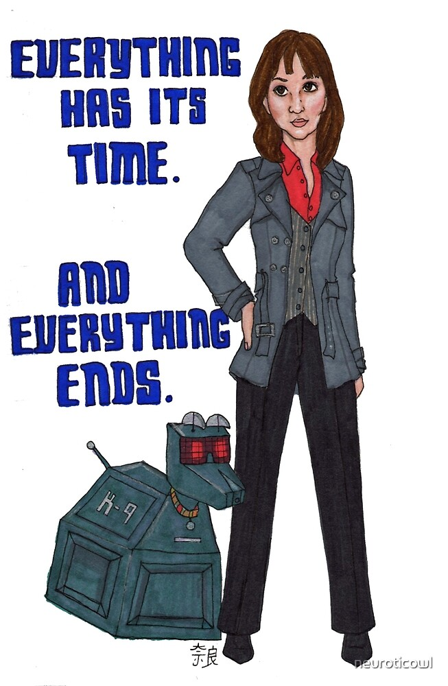 Sarah Jane and K-9 by neuroticowl