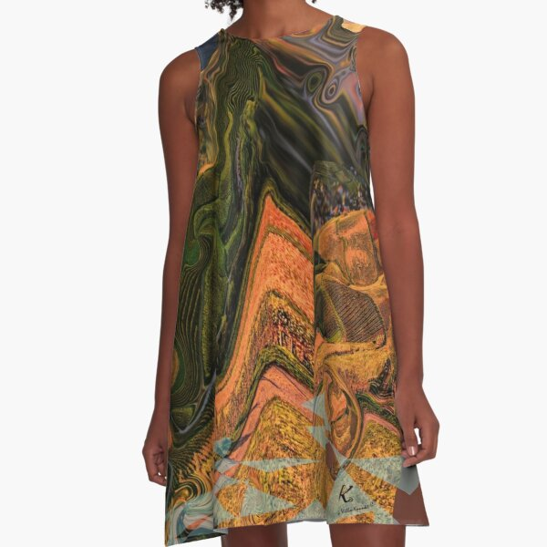 Back to nature A-Linien Kleid