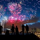 Fourth of July Fireworks Spectacular in Honolulu by Alex Preiss