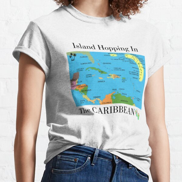 Island Hopping in the Caribbean Classic T-Shirt