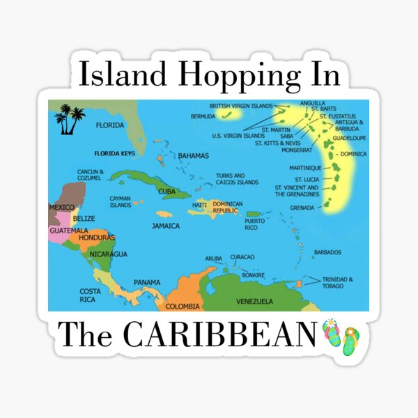 Island Hopping in the Caribbean Sticker