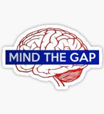Mind the gap - Brain #2 Sticker