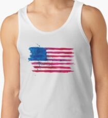 Watercolor Flag of the USA Tank Top