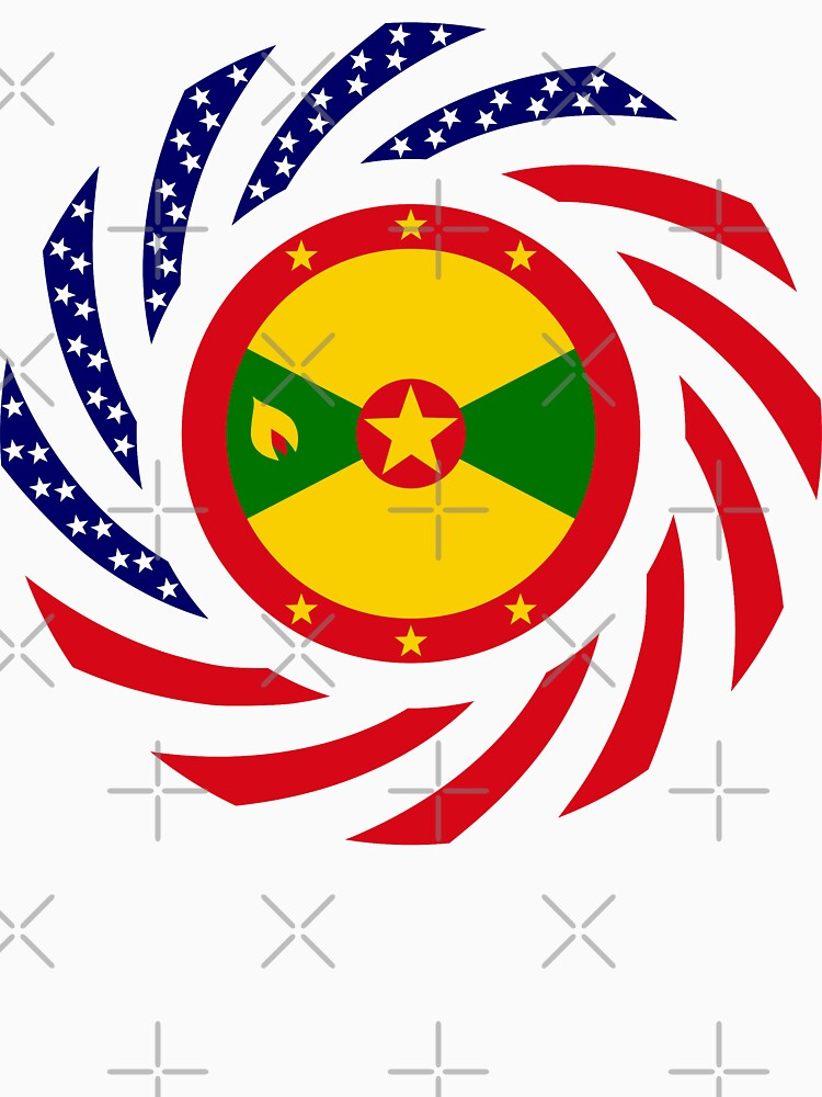 Grenadian American Multinational Patriot Flag Series by carbonfibreme