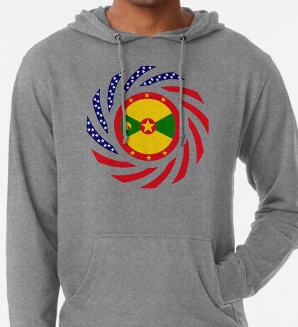 Grenadian American Multinational Patriot Flag Series Lightweight Hoodie