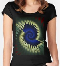 Blue Spiral Women's Fitted Scoop T-Shirt