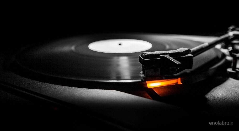 old style turntable with needle by enolabrain