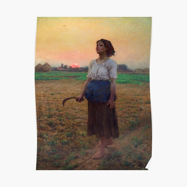 Le chant de l'alouette de Jules Breton Poster