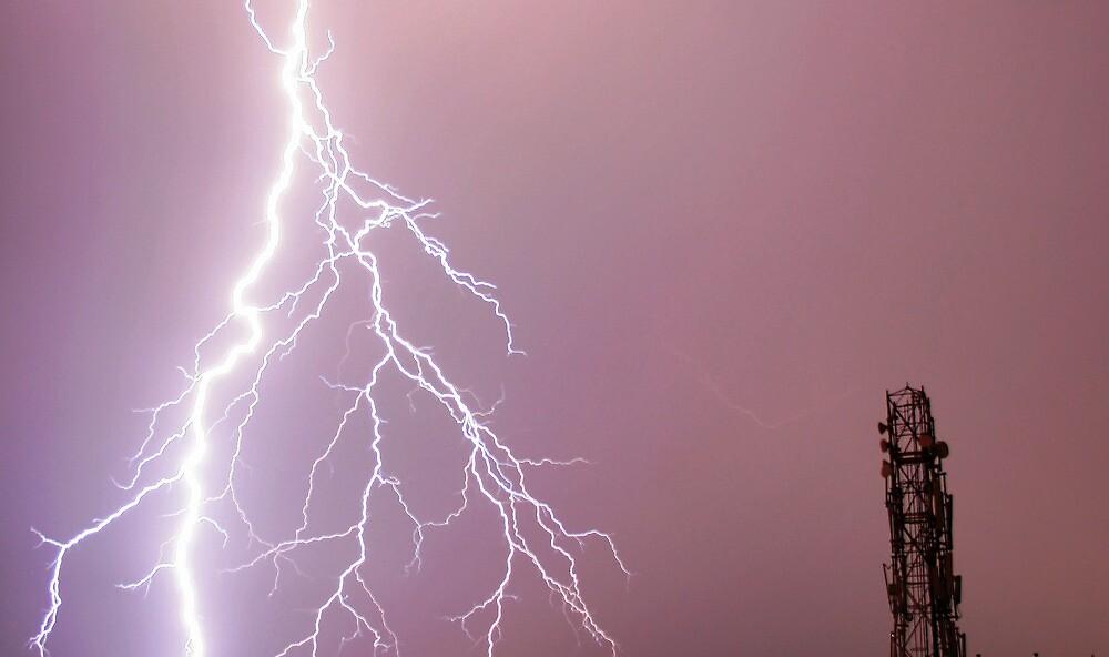 Thunderbolts in the sky by rickvohra