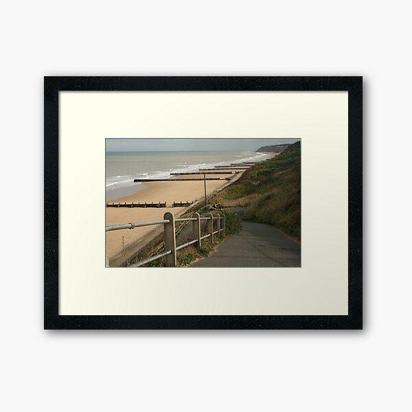 Halfway rest Overstrand Norfolk coast Framed Art Print
