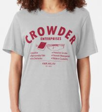 Crowder Enterprises (Maroon) Slim Fit T-Shirt