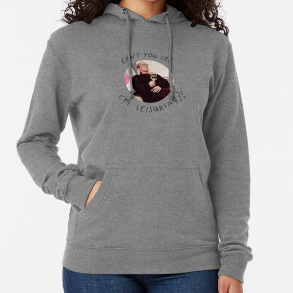CAN'T YOU SEE I'M LEISURING?! Lightweight Hoodie