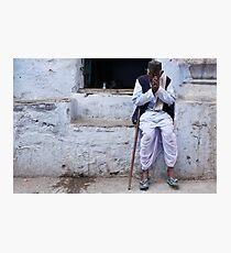 namaste in blue Photographic Print