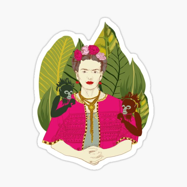 Frida Khalo Jungle Sticker