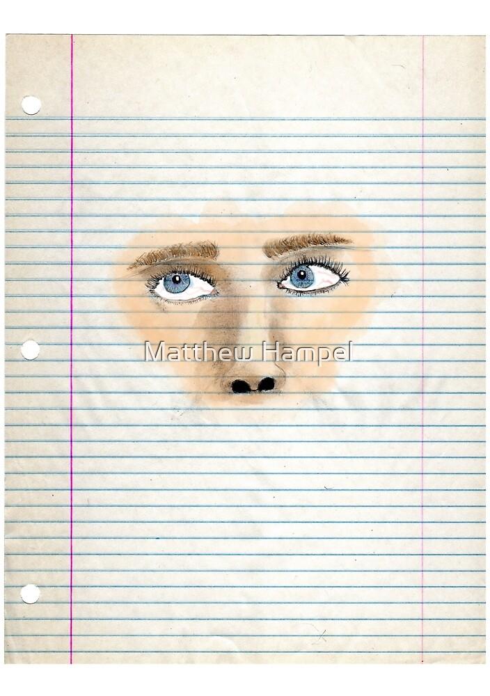 Watercolor Face by Matthew Hampel