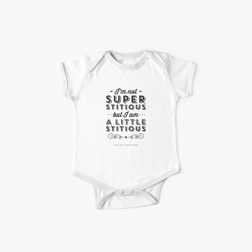 The Office Dunder Mifflin Michael Scott Quote - Superstitious Baby One-Piece
